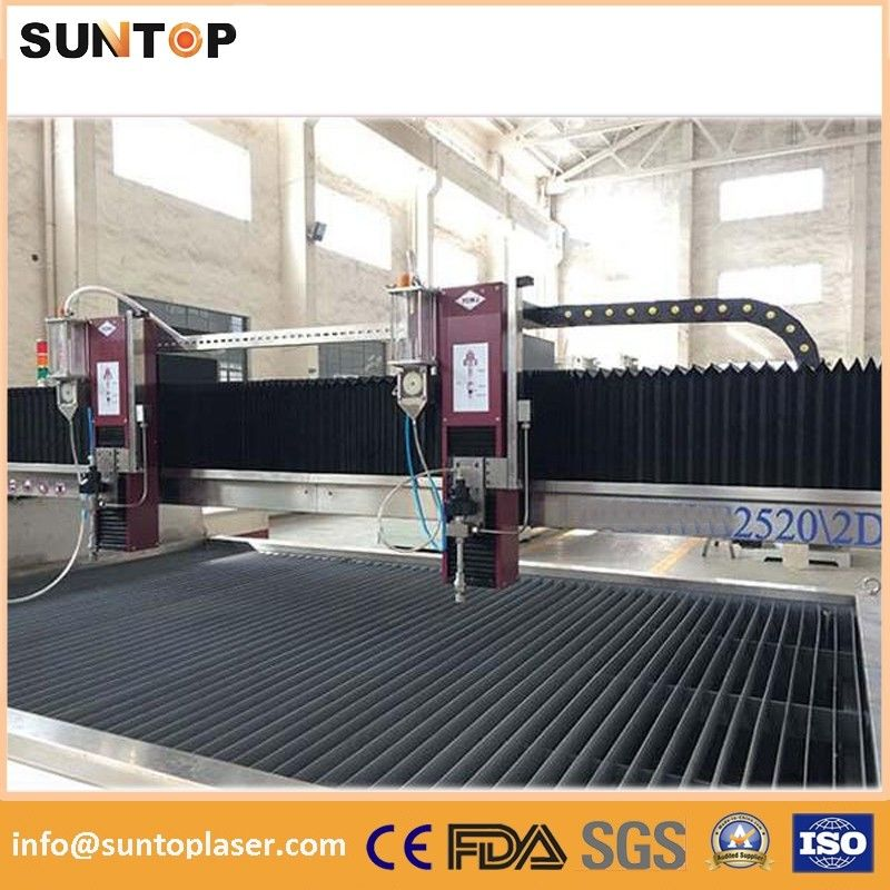 Magnesium alloy metal water jet cutting machine with multiple heads