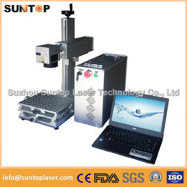 चीन 20W portable fiber laser marking machine for plastic PVC data matrix and barcode वितरक