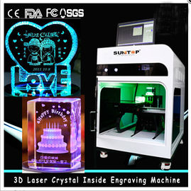 चीन 3D Crystal Laser Inner Engraving Machine 2000HZ speed 120,000 dots / Minute वितरक
